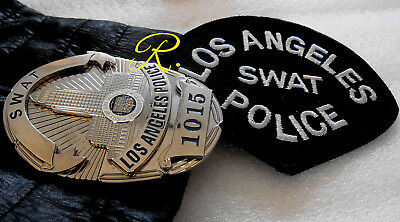 gb/ Historisches police badge + SWAT - Los Ang. Police Dept + patch