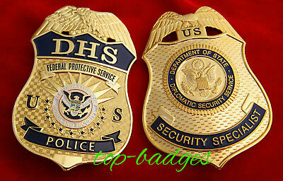 gb/ Collector Police badge + choose DHS / FPS Police OR Security Specialist DSS