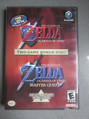The Legend of Zelda Ocarina of Time Master Quest (Nintendo GameCube) w/ Manual