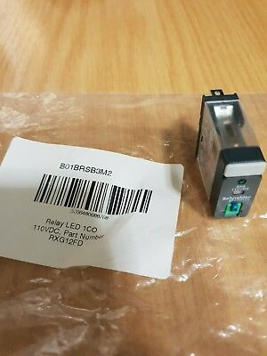 Schneider Electric RXG12FD Relay LED 1CO 110VDC, 1Co 10A Relay Ltbled 110Vdc