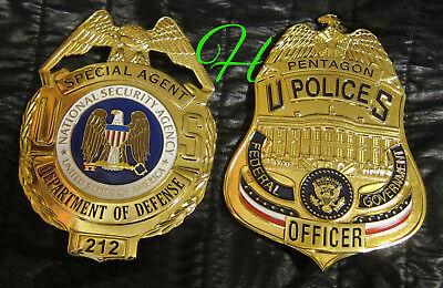 gb/ Collector  badge+ choose Movie prop Special Agent NSA or Officer Pentagon