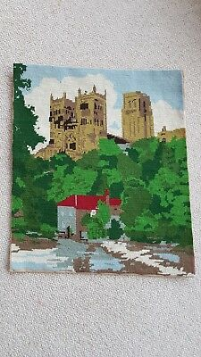 Completed/Worked Durham Cathedral Tapestry large 54x45 cm