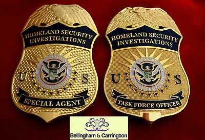 gb/ Historisches police badge/ choose HSI  Task Force Officier OR Special Agent