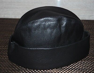 cf8ba641891 GIORGIO ARMANI MAINLINE Deer Leather Beanie Skull Cap Made in Italy Size 58  €675 - EUR 105