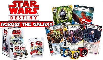 1 SEALED CASE=6 Boxes: STAR WARS DESTINY: ACROSS The GALAXY=Fantasy Flight Games