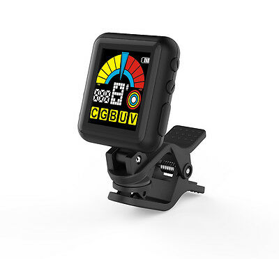 Tetra-Teknica EMT-108 2in1 Clip-on Tuner and Metronome for Chromatic, Guitar etc