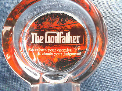 New Vintage The godfather  Glass Cigar Cigarette Ashtray  NoveltyHeavy and Thick