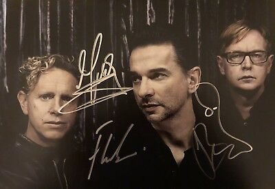 Picture Signed By DEPECHE MODE Martin Gore Dave Gahan Alan Wilder