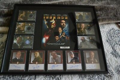 2008 Rittenhouse Iron Man Autographs/clothes Cards With Case