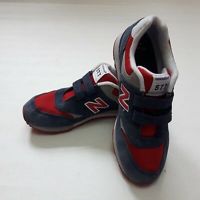 u3 - NEW BALANCE 577 MADE IN ENGLAND.  UK 10.  RED NAVY SUEDE TRAINERS WOMENS