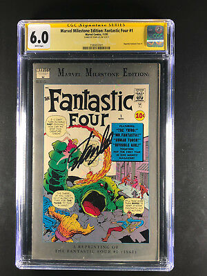 Marvel Milestone Edition Fantastic Four 1 CGC 6.0 signed by Stan Lee reprint key