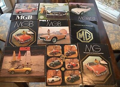 MGB   MGB/GT Original  USA Sales Literature LOT of 9 from 1968 to 1978