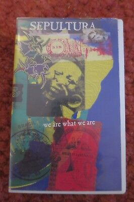 SEPULTURA - We are what we are - VHS