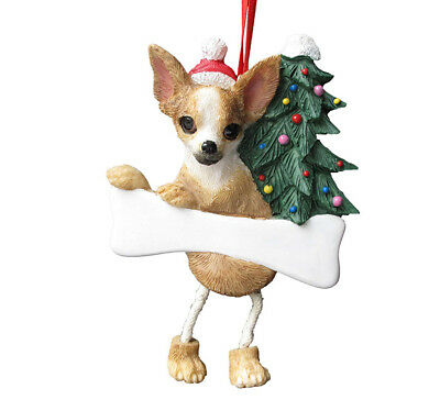 Chihuahua Dangling Legs Ornament Dog Pet Christmas Decoration by E&S Pets