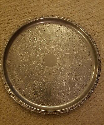 Silver plated Decorative Plate Coaster Old Vintage Antique Tray