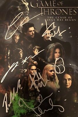 Picture Signed By GAME OF THRONES CAST Kit Harington Peter Dinklage Clarke