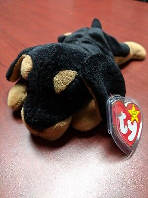 RARE & RETIRED 5th Gen Ty Beanie Baby Doby with Tush Tag Error (Ziggy) VINTAGE