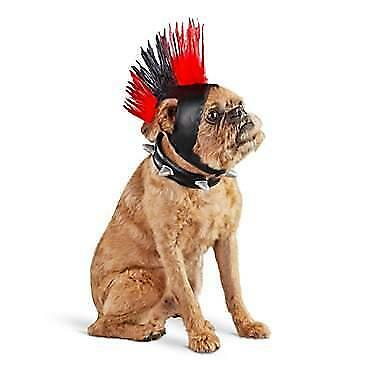 Bootique Halloween Dog Costume Bad To The Bone Mohawk Collar Lights Up L/XL