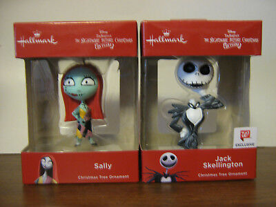 2018 Hallmark The Nightmare Before Christmas Sally & Jack 25 Years Ornaments NIB