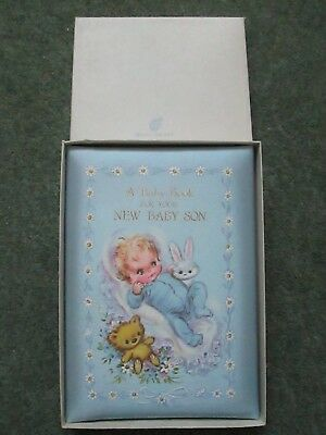 Vintage New Baby Card/record Book