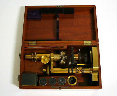 Schönes antikes Mikroskop vermutlich Ed Messter - beautiful antique microscope