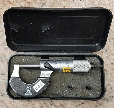 Moore and Wright 0 - 25mm Metric Micrometer