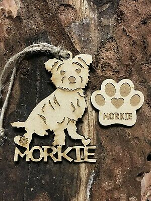 MORKIE Christmas Ornament & 2 FREE MAGNETS