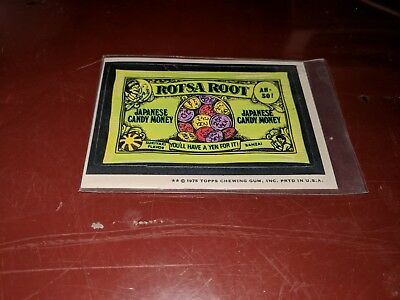 1975 Topps Original Wacky Packages Rotsa Root white back