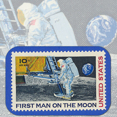 1969  FIRST MAN on the MOON  Single Genuine MINT Air Mail Stamp  Scott Cat # C76