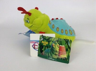 "Vintage Disney Store A Bug's Life 8"" Heimlich Caterpillar Plush Stuffed Toy Tags"