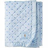 NWT Carters Child Of Mine Sweet Little One Bear Stars Blue Quilted Baby Blanket