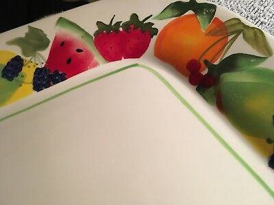 """Sonoma Life + Style FRUIT PUNCH 1 Square Dinner Plate 11 1/4"""""""