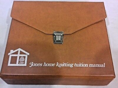 Vintage Jones / Brother Knitting Machine Home Tuition Knitting Manual in Folder