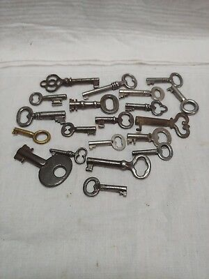Lot Of 20 Vintage Skeleton Keys Antique Key Cabinet Key Door Key Handcuff Key