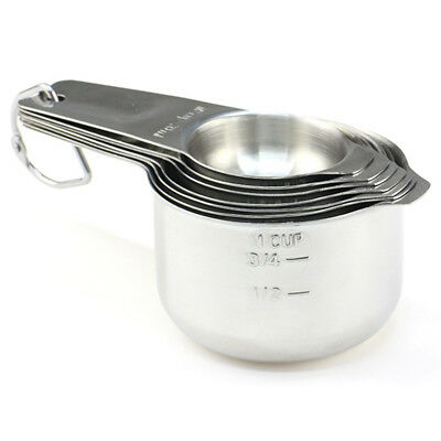 1X([7-Piece]Stainless Steel Measuring Cups - Made of 1 Solid Piece 304 Stai O3W2