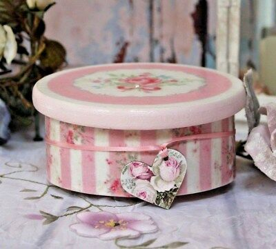 """~ Victorian ~ Wooden~Vintage~Shabby~Chic Decor JEWELRY BOX ~ """"Faded Roses..."""" ~"""