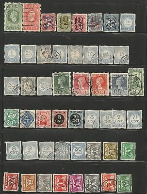 Netherlands Stamp Collection 89 stamps mint and used