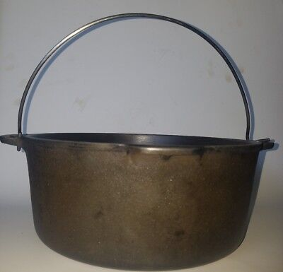 Wagner Ware Sidney O 1268 F Cast Iron Dutch Oven Bail Handle Pot Kettle