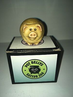 Harmony Kingdom Pot Bellys BIGGIE the Farmyard Times pig - New In Original Box
