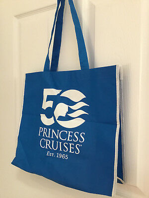 NEW 50th Year Anniversary Princess Cruises Reusable Tote Grocery Reusable Bag
