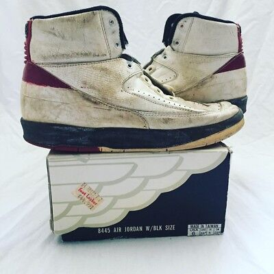 huge selection of 30345 7613c Original 1987 Air Jordan 2 II Sneakers Nike NBA Vintage Not Retro Shoes  Michael