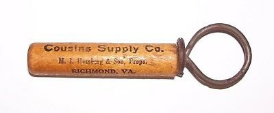 Rare Cousins Supply Co Chimney Corner Corn Whiskey Wooden Corkscrew Richmond Va