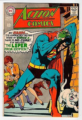 DC - Action Comics #363 - Adams Cover - FN May 1968 Vintage Comic