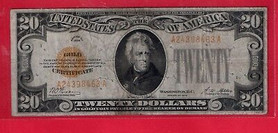 **  1928  $20.00 Gold Note   ****