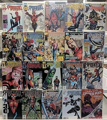 Spider-Girl Comics Huge 20 Comic Book Lot Collection Set Books Run Box 1