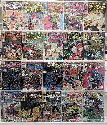 Marvel Tales Spider-Man Comics Huge 20 Comic Book Lot Collection Set Run Box 1