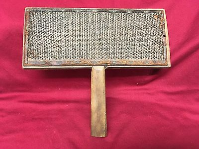 FARM TOOL Antique Wool Carder #8 Very Early 1900s Old Whittemore Patent Original