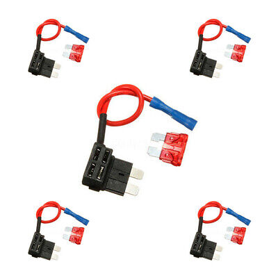 10pcs Add A Circuit Standard Blade Fuse Tap Holder Blade Fuses Auto Decor Hot