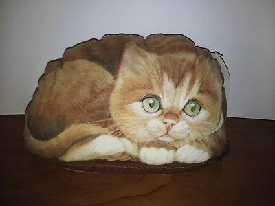 Marmalade Sitten-Kitty 2003 Leslie Anderson stuffed bean bag style Cat doorstop