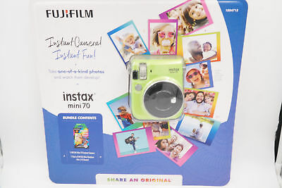 FUJIFILM instax Mini 70 Kiwi Green Camera  Bundle w/ One 10-pack of Instant Film
